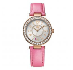 Juicy Couture Rose Gold Plate Cali Quartz Watch on a Pink Leather strap 1901398