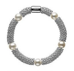 Links of London Effervescence Star Sterling Silver & White Pearl Bracelet 5010.1393