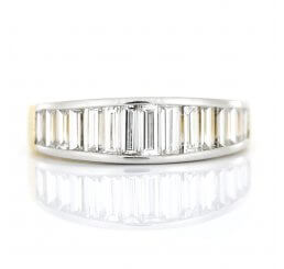18ct Yellow And White Gold Baguette Cut Diamond Ring 1.50ct