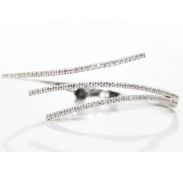 18ct White Gold Diamond Set Bangle 1.30ct