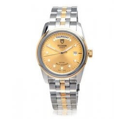 Tudor Glamour Bi-Metal Date Day Gents Watch M56003-0006