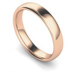 Arctic Circle 18ct Rose Gold Medium Slight Court 4mm Band