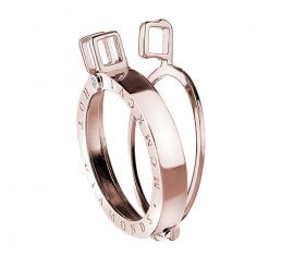 Emozioni By Hot Diamonds Rose Gold Plated Sterling Silver Coin Keeper - 33mm DP447