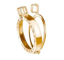 Emozioni By Hot Diamonds Yellow Gold Plated Sterling Silver Keeper - 33mm DP523