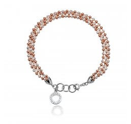 Emozioni By Hot Diamonds Sterling Silver and Rose Gold Plate Bead Bracelet DL280