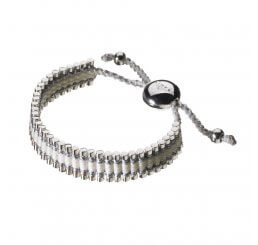 Links Of London Friendship Bracelet Pewter And White 5010.0543