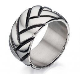 Fred Bennett Stainless Steel Gents Ring R3413