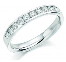 Platinum Brilliant Cut Channel Set Diamond Ring HET1167 0.50ct