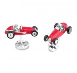Deakin and Francis Red Racing Car Cufflinks