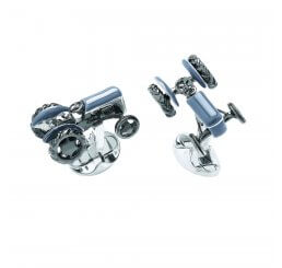 Deakin and Francis Silver Tractor Cufflinks