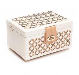 Chloe Small Cream Leather Jewellery Box 301153