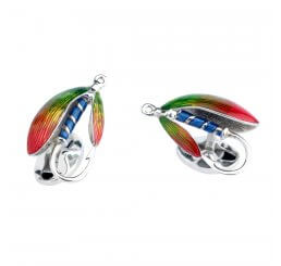 Deakin And Francis Silver Fishing Fly Cufflinks