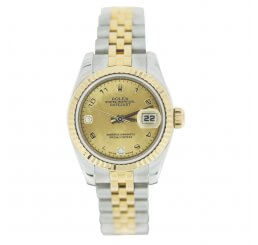 Pre-Owned Ladies Rolex Steel and Yellow Gold Datejust 2007 Model 179173