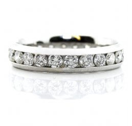 18ct White Gold Brilliant Cut Channel Set Diamond Eternity Ring 1.44ct