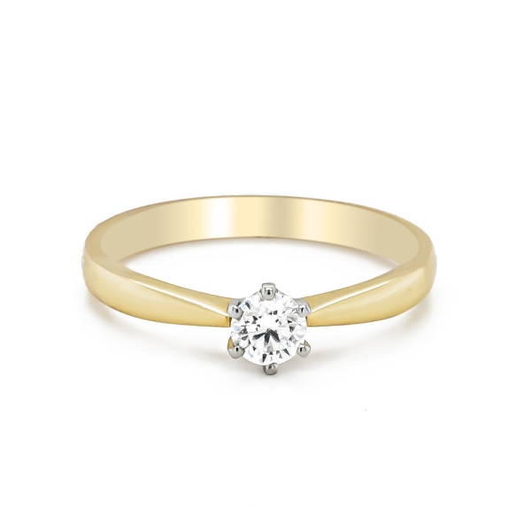 18ct Yellow Gold and Platinum .30ct D Colour Engagement Ring