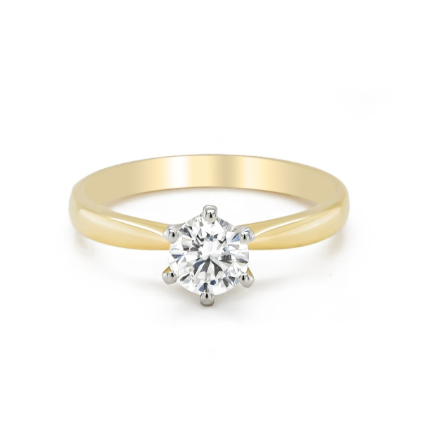18ct and Platinum .70ct Certificated D Colour Engagement Ring