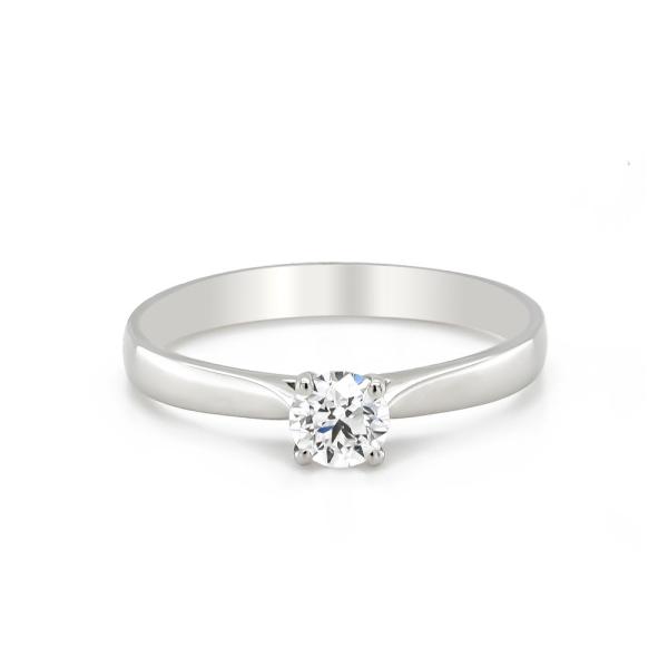 Platinum D Colour .40ct Certificated Diamond Engagement Ring