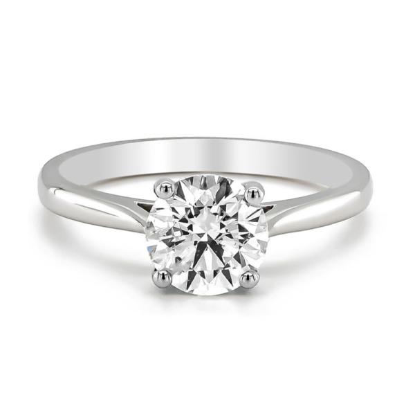 Platinum Single Stone Diamond Ring G/Si 1.53cts