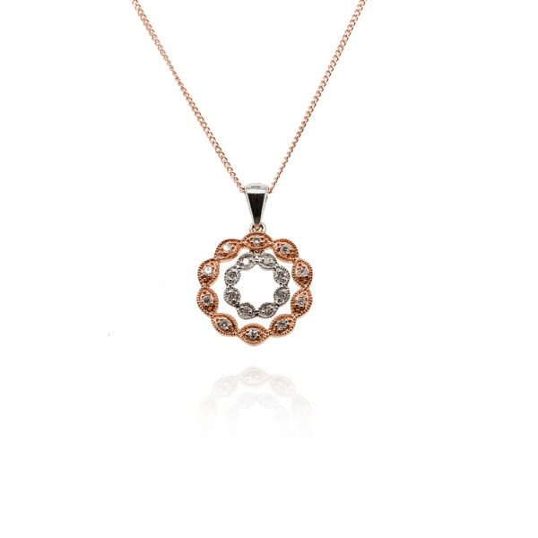 9ct-white-and-rose-gold-double-diamond-flower-pendant