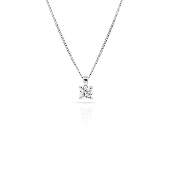 18ct White Gold Diamond Pendant 0.41ct