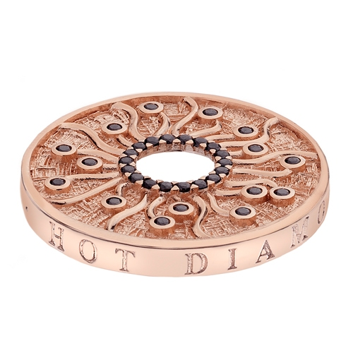 Emozioni By Hot Diamonds Many Paths Rose Gold Plated Coin -33mm EC150