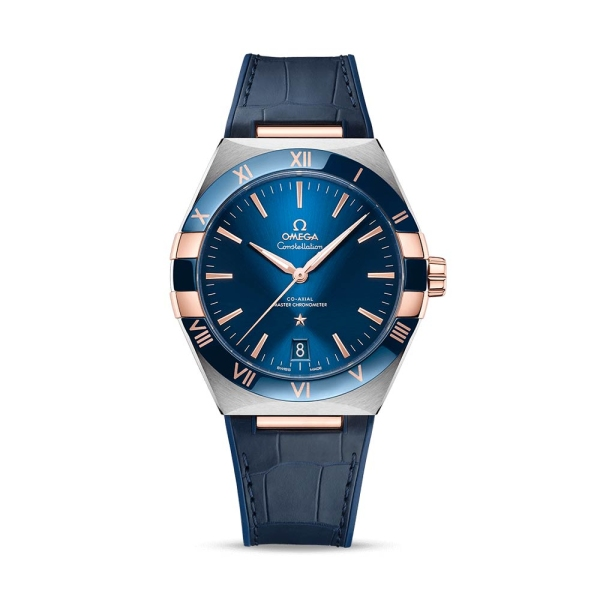 OMEGA Constellation Steel and Sedna Gold Blue Strap 13123412103001