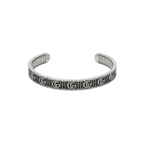Gucci Silver GG Marmont Silver Open Torque Bangle YBA551903001018