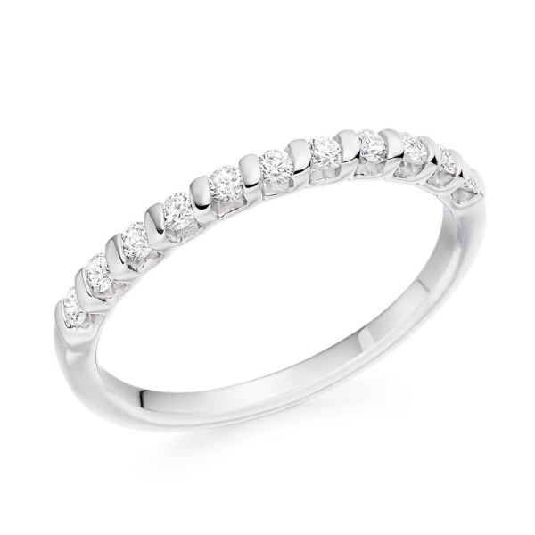 18ct White Gold Diamond Set Eternity Band .25ct