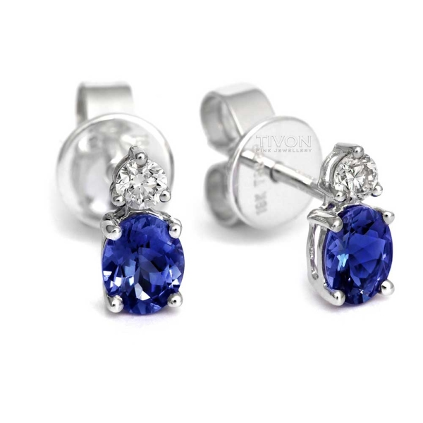 18ct-white-gold-oval-tanzanite-and-diamond-earrings