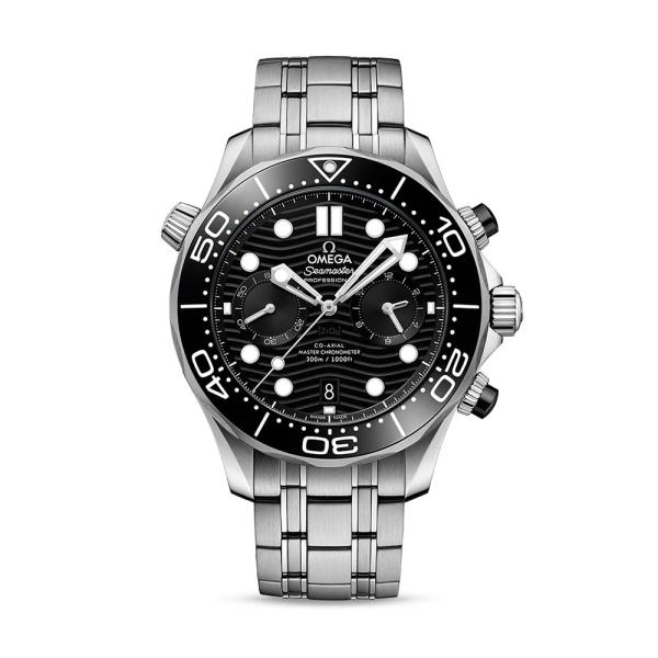 Omega Seamaster 44mm Diver Black Chronograph 21030445101001
