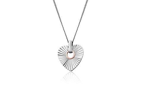 Clogau Cariad Horizon Heart Pendant 3SCRH0150