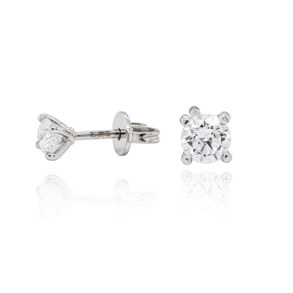 Second Hand 18ct White Gold Diamond Stud Earrings 1.80cts