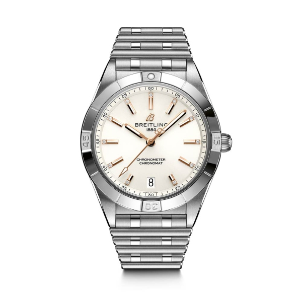 Breitling Chronomat Automatic 36 Silver Diamond Dial A10380101A2A1