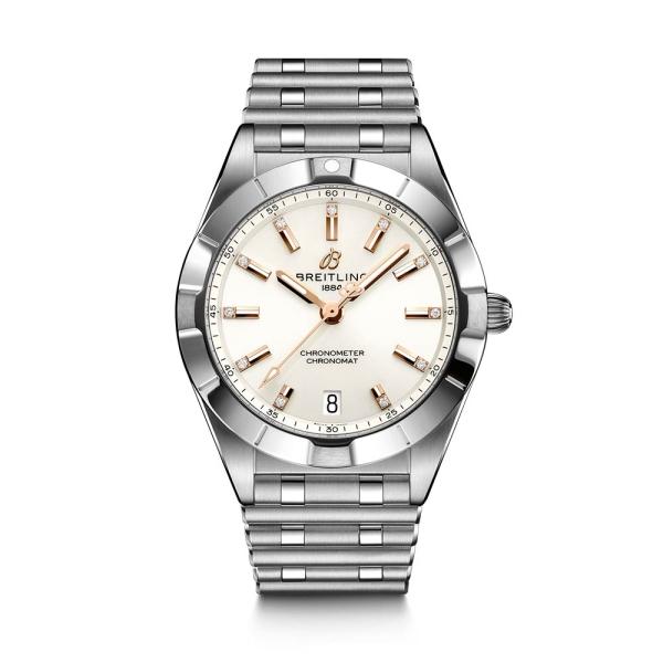 Breitling Chronomat Automatic 32 Silver Diamond Dial A77310101A3A1