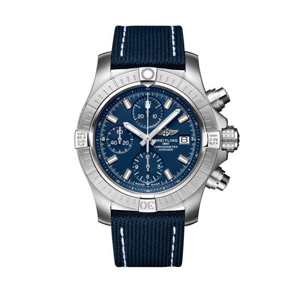 Breitling Avenger Blue Chronograph Strap Watch A13385101C1X1