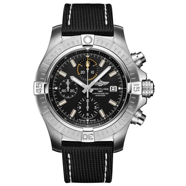 breitling-avenger-chronograph-45-steel-black-dial-black-strap-a11317101b1x1