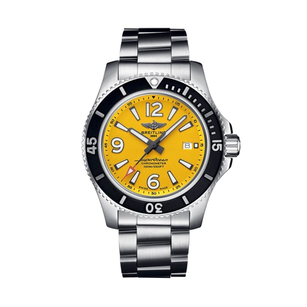 Breitling Superocean II 44mm Automatic Yellow Dial A17367021I1A1