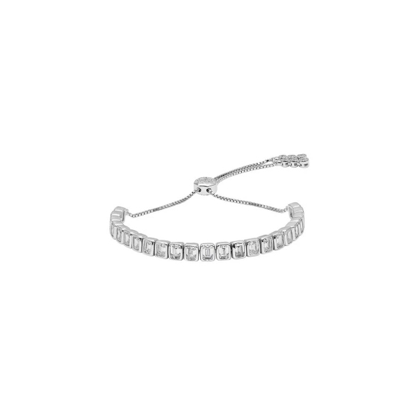 Carat* Silver Cassidy Emerald Cut Bracelet CB925W-CASS