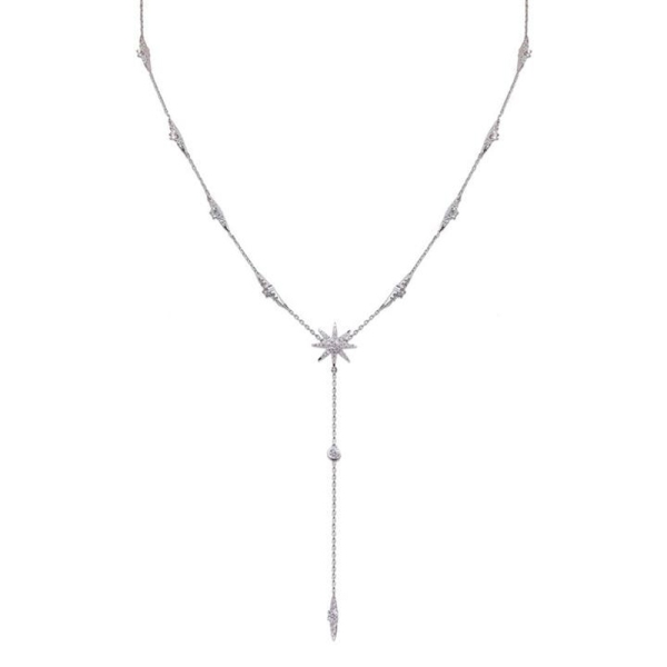 Carat Silver Mimosa Necklace CN925W-MIMO