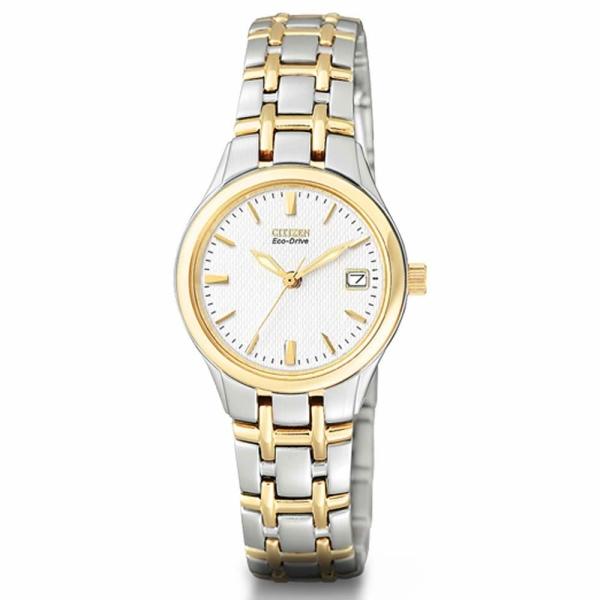 Citizen Ladies Silhouette Two Tone Bracelet Watch EW1264-50A