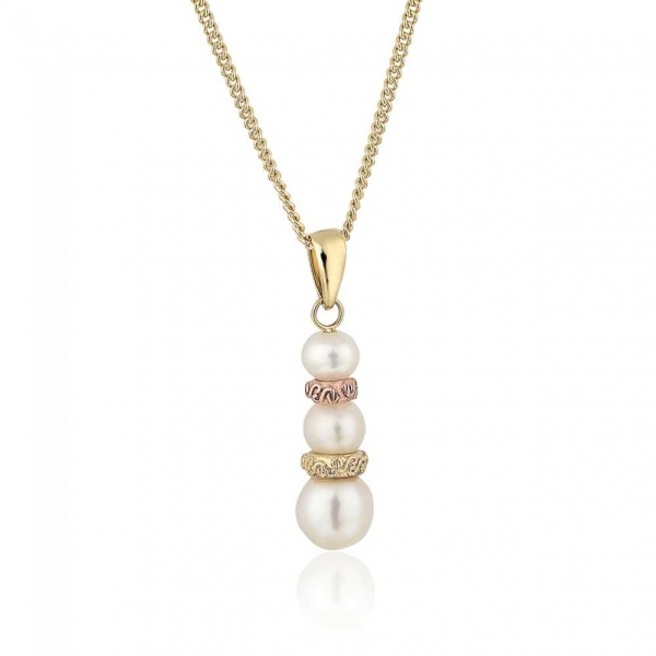 Clogau 9ct Yellow Rose Gold Tree of Life Pearl Pendant TOLPP6