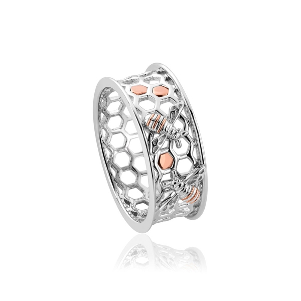 clogau-silver-and-rose-honey-bee-honeycomb-ring-3shnbwr