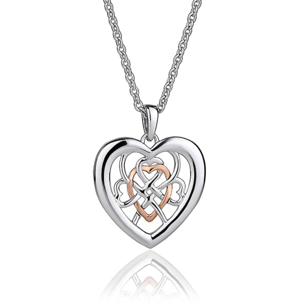 Clogau Silver/9ct Gold Welsh Royalty Pendant 3SWLRP