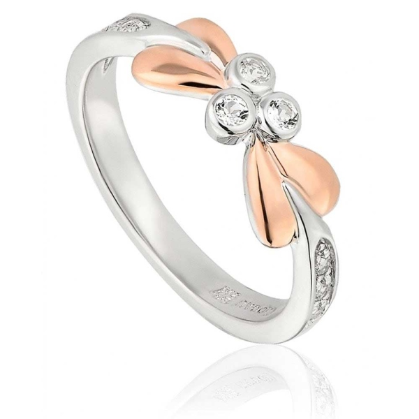 Clogau Silver 9ct Rose Gold Tree of Life Vine Ring 3STOLVR