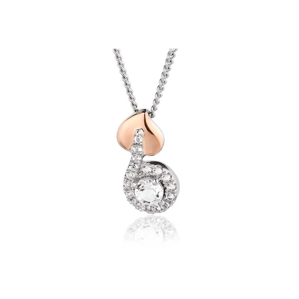 Clogau Silver and 9ct Rose Tree of Life Vine Pendant 3STLWPVP