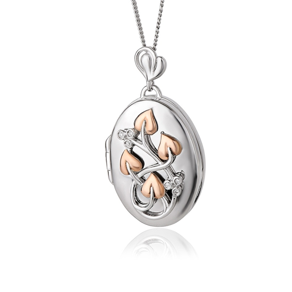Clogau Silver and 9ct Tree of Life Diamond Locket 3STOLLP2