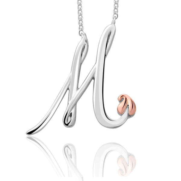 Clogau Silver and 9ct Tree of Life Initial M Necklace 3SITOLP13