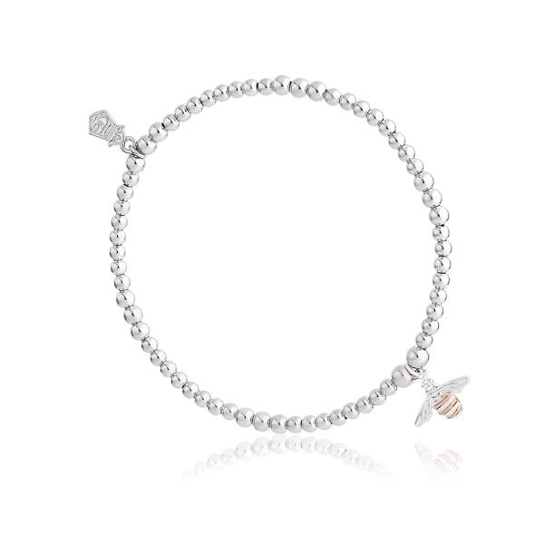 Clogau Silver Honey Bee Affinity Bead Bracelet 3SBB15