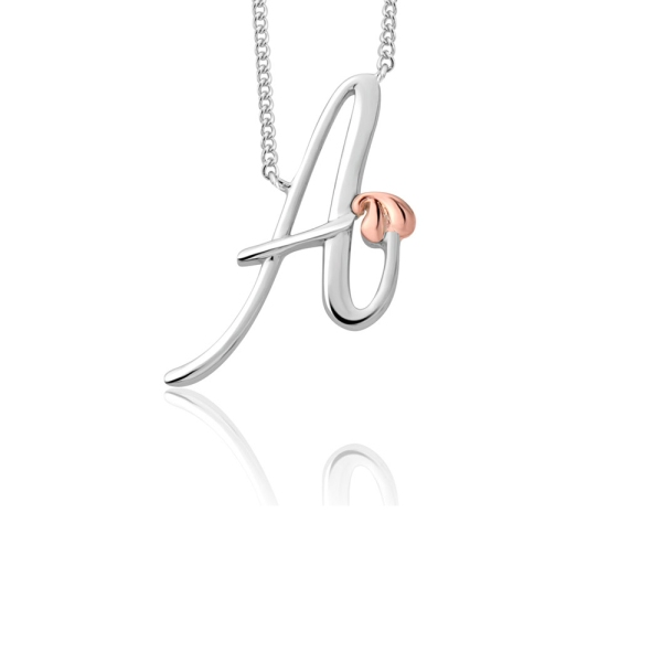 Clogau Tree of Life Silver and Rose Initial A Necklace 3SITOLP01