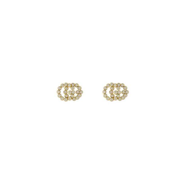 Gucci 18ct 0.25ct Diamond Running G Stud Earring YBD48167600100U